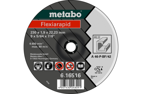 Flexiarapid 230 x 1,9 x 22,23 mm, alumínio, TF 42 (616516000)