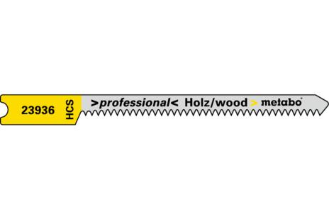 5 hojas de sierra de calar en U,madera,profess. 52/1,3mm (623936000)