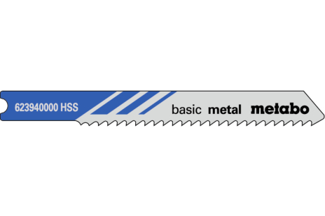 5 U-jigsaw blades,metal,classic,52/2.0mm (623940000)