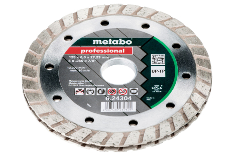 "Diamond cutting disc, 125x6x22.23 mm, ""professional"", ""UP-TP"" (624304000)"