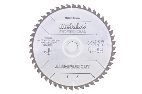 """Lâmina de serra """"aluminium cut - professional"""", 165x20 Z48 FZ/TZ 5°neg (628276000)"""