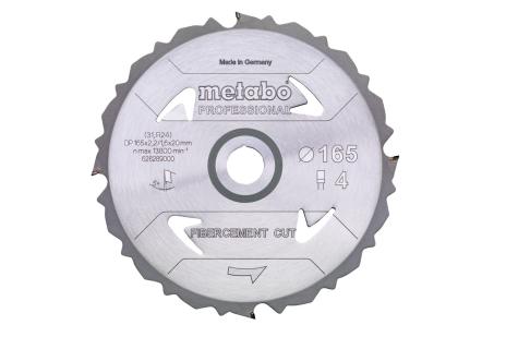 "Saw blade ""fibre cement cut - professional"", 160x20 Z4 DFZ 5° (628287000)"