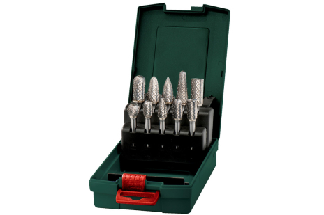 Carbide router bit set, 10 pieces (628404000)
