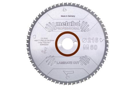 """Hoja de sierra """"laminate cut - professional"""", 216x30 Z60 DP/DT 0° (628442000)"""