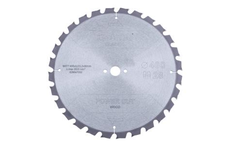 "Hoja de sierra ""power cut wood - classic"", 400x3,2/2,2x30 Z28 TZ 15° (628647000)"