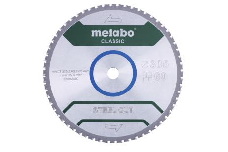 """Lâmina de serra """"steel cut - classic"""", 305x25,4 Z60 FZFA/FZFA 4° (628668000)"""
