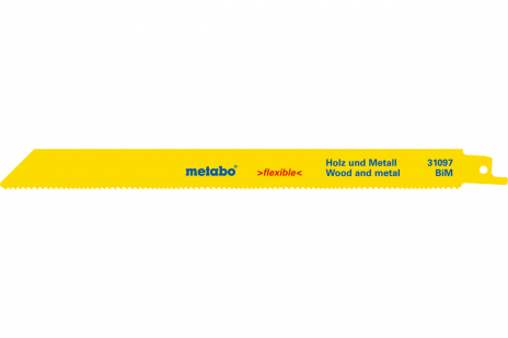 100 hojas de sierra de sable mad+met,flexible,225x0,9 mm (625494000)