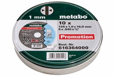 """10 Cutting Discs """"SP"""" 125x1.0x16.0 Inox, TF 41 (616364000)"""