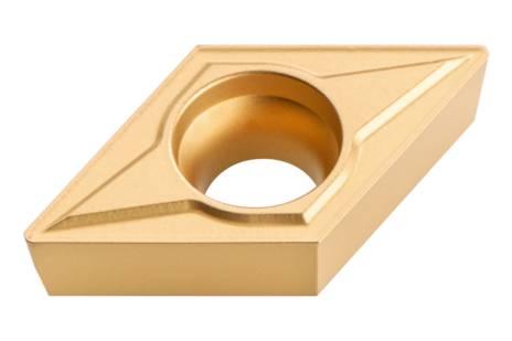 10 Pastilhas reversíveis em metal duro, chanfros a 45°, ISO DCMT 11 T 304 (623560000)