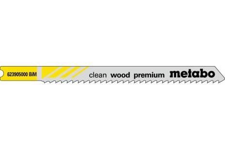 """5 Lâminas para serras de recortes U """"clean wood premium"""" 82/2,5mm (623905000)"""