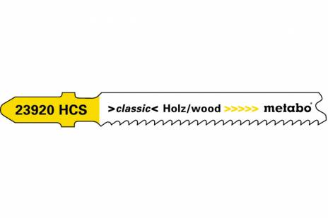 """5 hojas para sierra de calar """"basic wood"""" 66 mm/progr. (623920000)"""