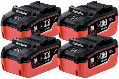 Set 4 x LiHD battery pack 18 V/5.5 Ah (625154000)