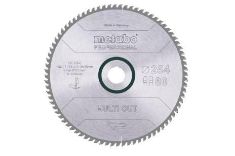 """Hoja de sierra """"multi cut - professional"""", 254x30, D80 DP/DT, 5° (628093000)"""