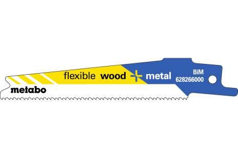 """5 Lâminas para serra de sabre """"flexible wood + metal"""" 100 x 0,9 mm (628266000)"""