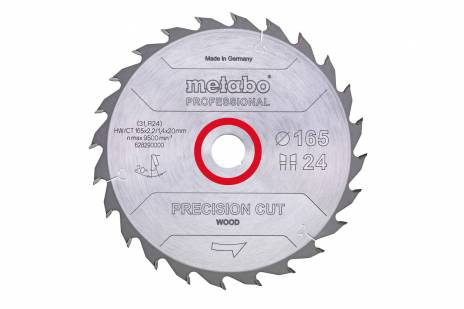 "Saw blade ""precision cut wood - professional"", 160x20, Z24 WZ 20° (628031000)"