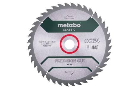 "Hoja de sierra ""precision cut wood - classic"", 254x30, D40 DI 20° (628325000)"