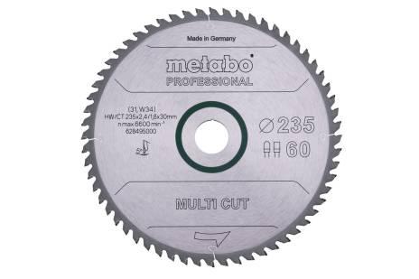 """Hoja de sierra """"multi cut - professional"""", 235x30, D60 DP/DT, 5° (628495000)"""