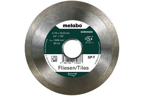 Disco de cortar de diamante SP - T, 115x22,23 mm, azulejos (628555000)