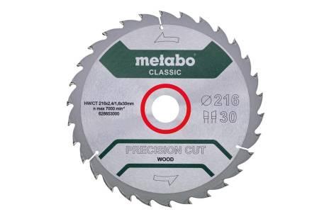 "Hoja de sierra ""precision cut wood - classic"", 216x30 D30 DI 22° /B (628653000)"