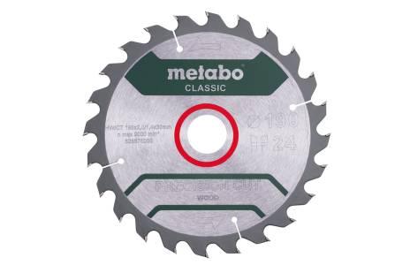 "Saw blade ""precision cut wood - classic"", 190x30 Z24 WZ 15° /B (628676000)"