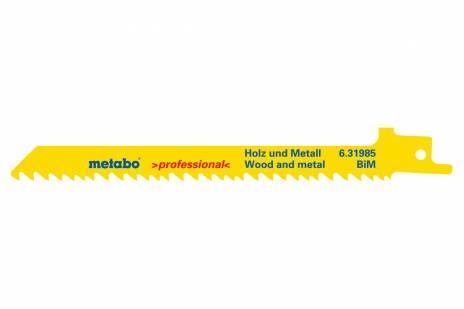 """5 Sabre saw blades """"heavy wood + metal"""" 150 x 1.25 mm (631985000)"""