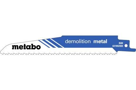 """5 hojas para sierras de sable """"demolition metal"""" 150 x 1,6 mm (631992000)"""