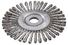 Wheel brush 125x0.5x6 /22.23 mm, steel-wire, twisted (626815000)