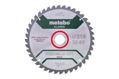 "Hoja de sierra ""precision cut wood - classic"", 216x30 D40 DI 5°neg /B (628652000)"