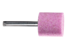 Pink aluminium mounted point 25 x 25 x 40 mm, shank 6 mm, K 36, cylinder (628331000)