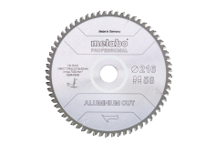 "Hoja de sierra ""aluminium cut - professional"", 216x30 Z58 FZ/TZ 5°neg (628443000)"