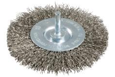Cepillo redondo 75x0,3 mm/ 6 mm, acero Inox, ondulado (630550000)
