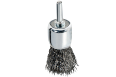 Busby-end brush 25x0.3 mm/ 6 mm, crimped steel (630554000)