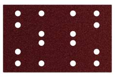 Hook and loop sanding sheets 80 x 133 mm, P 40, 16 holes, with hook and loop (SRA) (635190000)