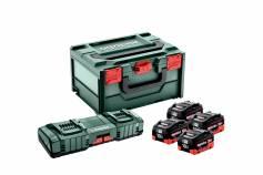 Conjunto básico 4x LiHD 10Ah + ASC 145 DUO + metaBOX (685143000)