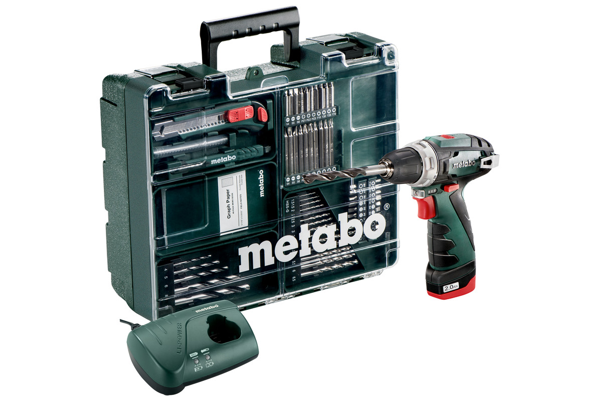 powermaxx bs set 600079880 cordless drill screwdriver metabo power tools. Black Bedroom Furniture Sets. Home Design Ideas