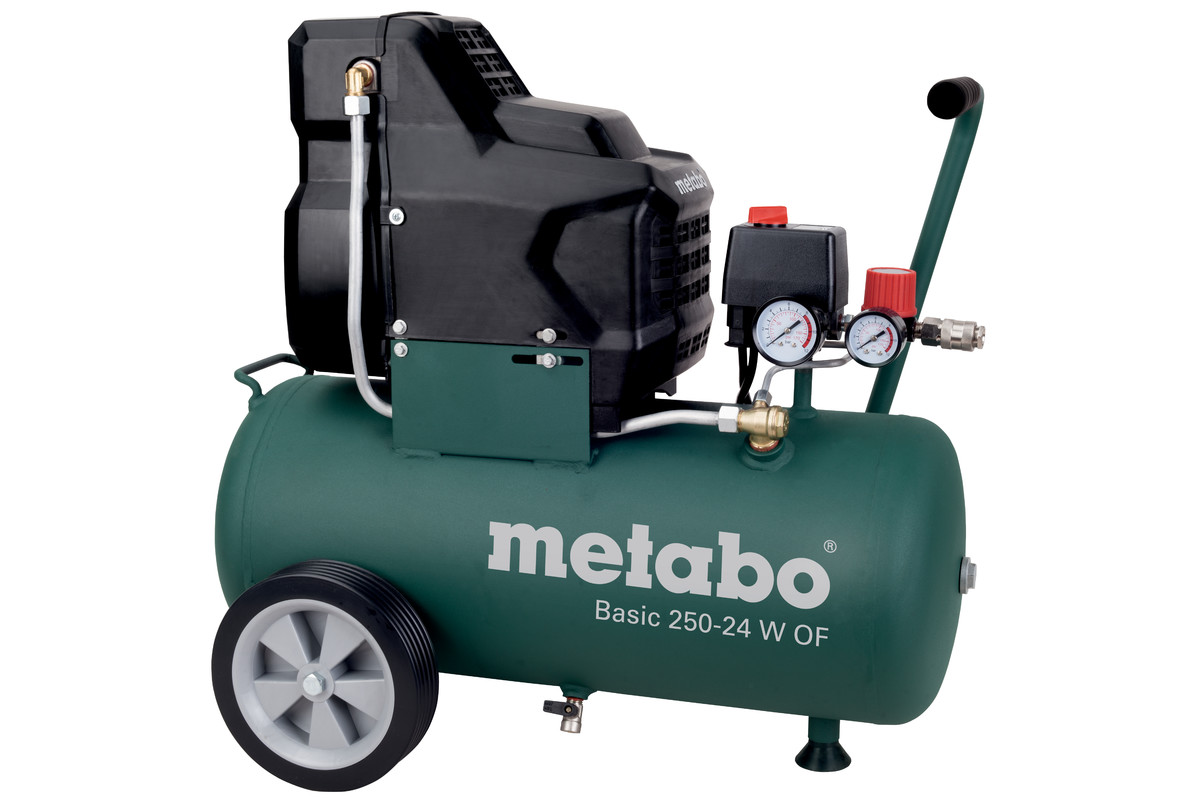 basic 250 24 w of 601532180 compressor basic metabo power tools. Black Bedroom Furniture Sets. Home Design Ideas