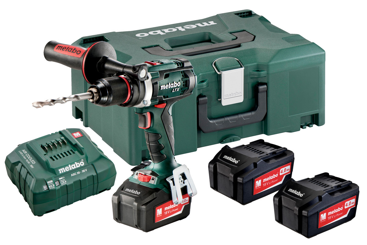 bs 18 ltx impuls set 602191960 cordless drill screwdriver metabo power tools. Black Bedroom Furniture Sets. Home Design Ideas