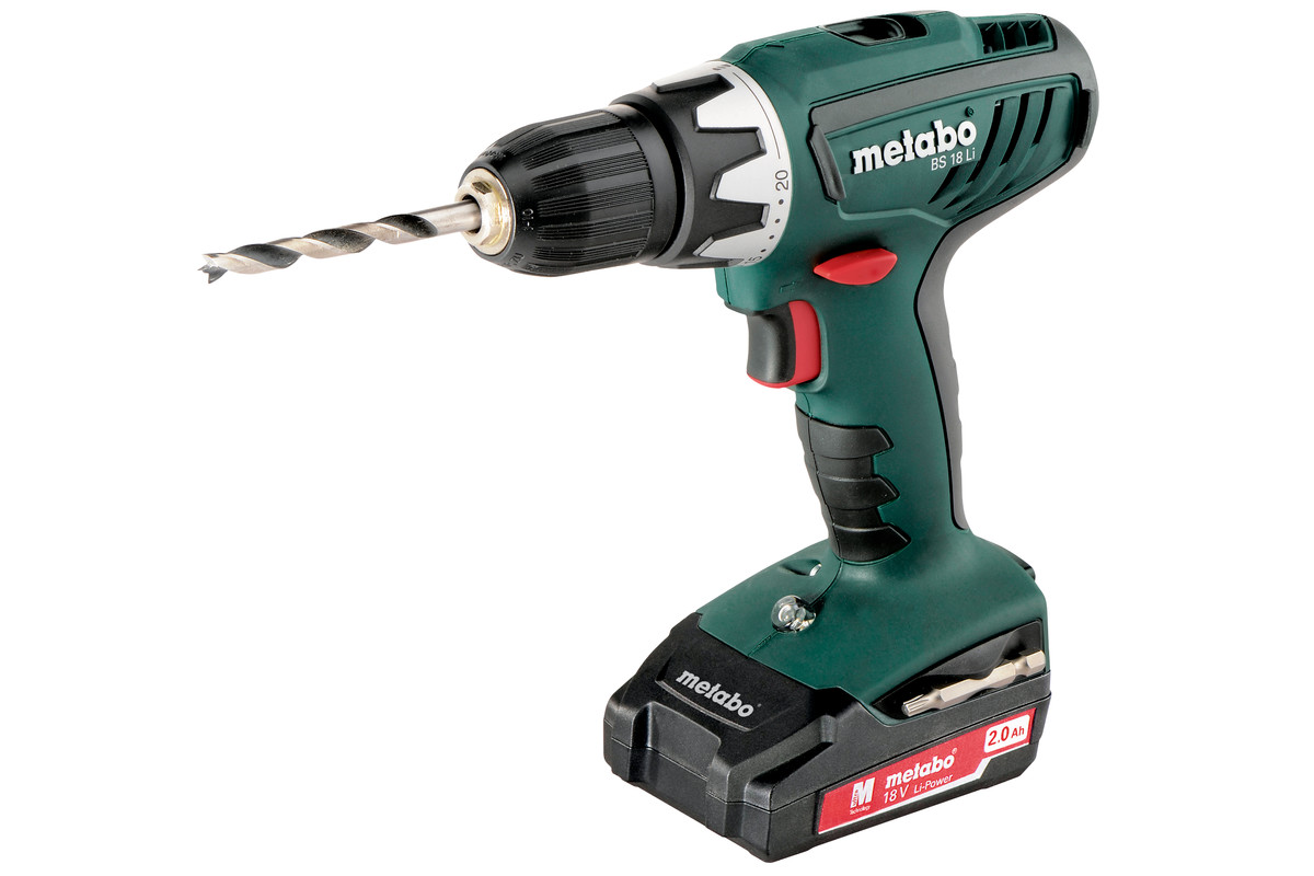 bs 18 li 602116530 cordless drill screwdriver metabo power tools. Black Bedroom Furniture Sets. Home Design Ideas