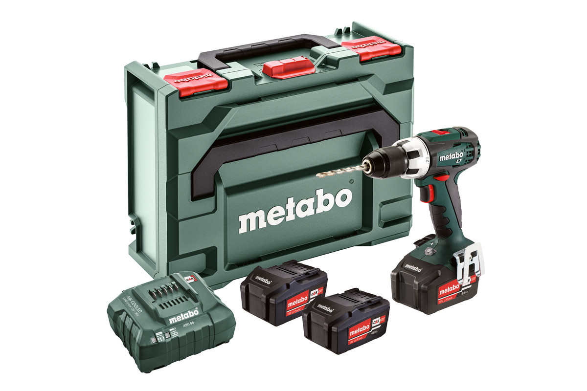 bs 18 lt set 602102960 cordless drill screwdriver metabo power tools. Black Bedroom Furniture Sets. Home Design Ideas