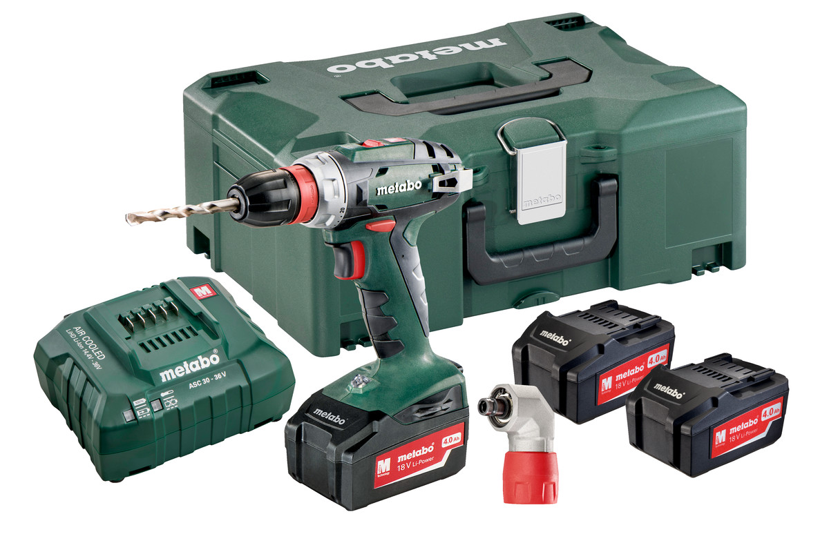bs 18 quick set 602217960 cordless drill screwdriver metabo power tools. Black Bedroom Furniture Sets. Home Design Ideas