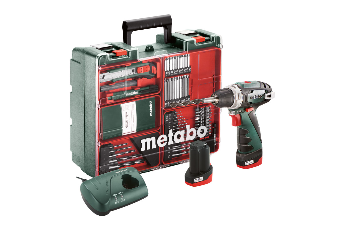 powermaxx bs basic set 600080880 cordless drill screwdriver metabo power tools. Black Bedroom Furniture Sets. Home Design Ideas