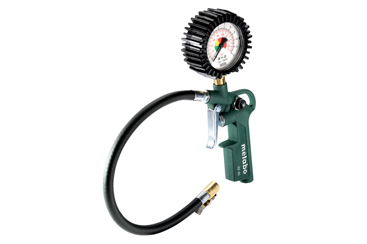 RF 60 (602233000) Air Tyre Inflation & Pressure Gauge   Metabo Power Tools
