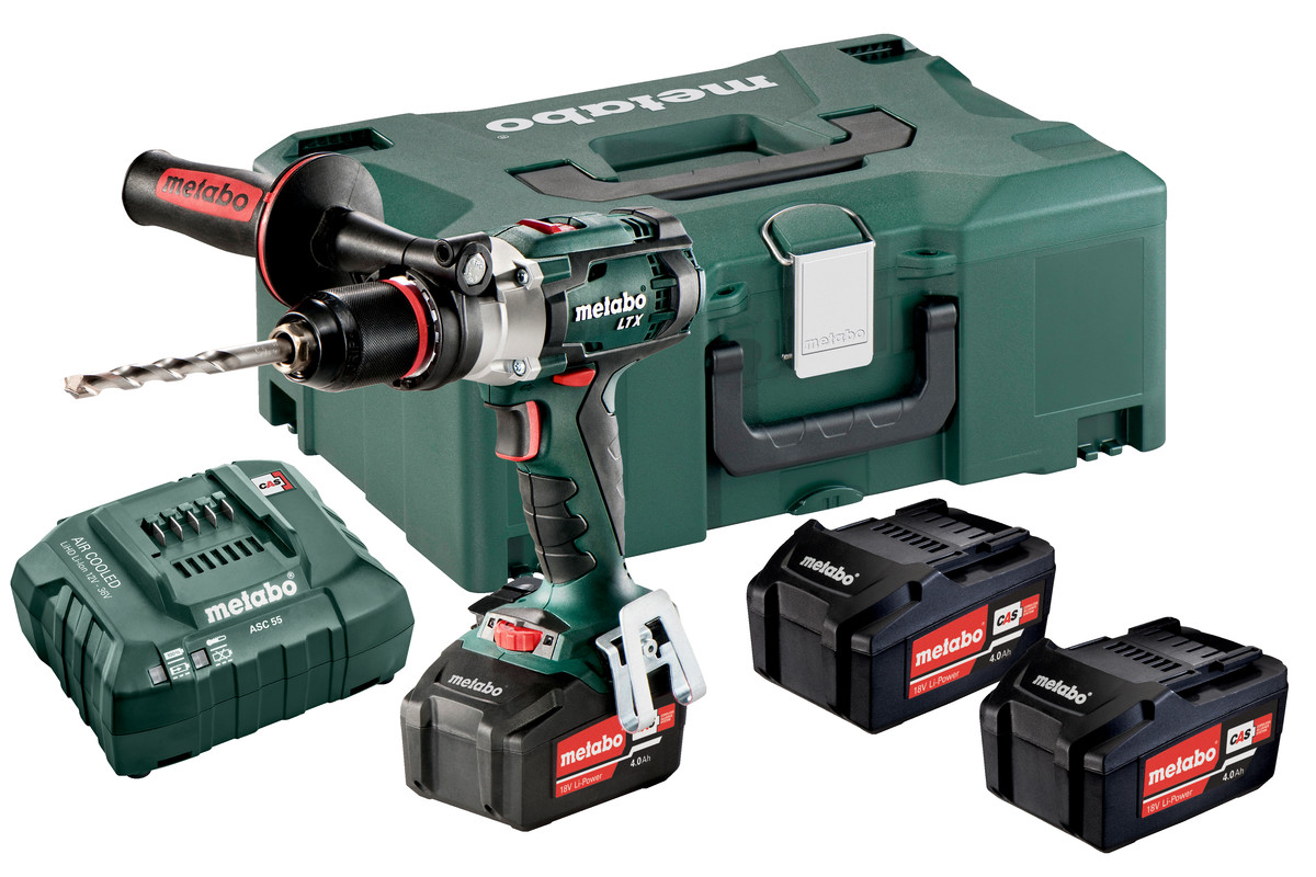 Sb 18 Ltx Impuls Set 602192960 Cordless Hammer Drill Metabo