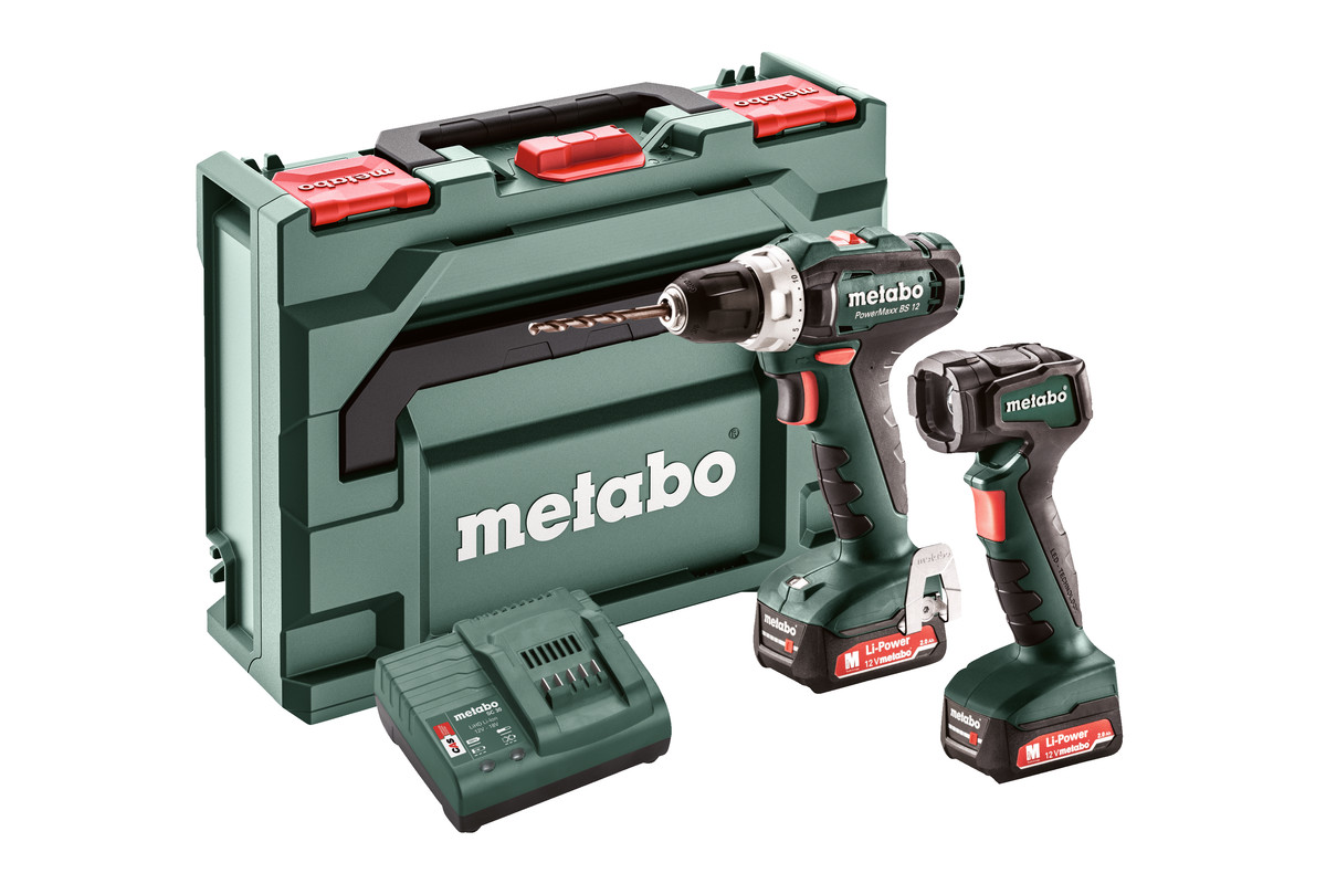 Set Powermaxx Bs 12 601036900 Cordless Drill Screwdriver Metabo Power Tools