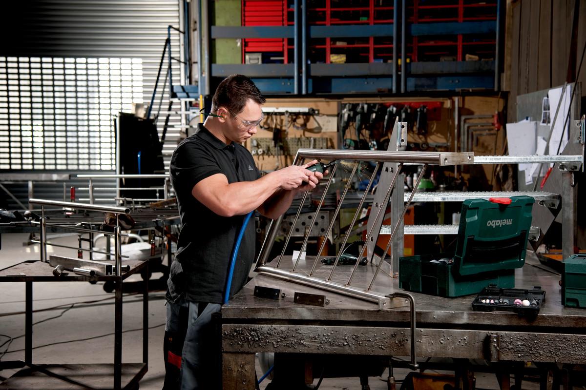 Metabo DG25 Set Compressed Air Die Grinder Set