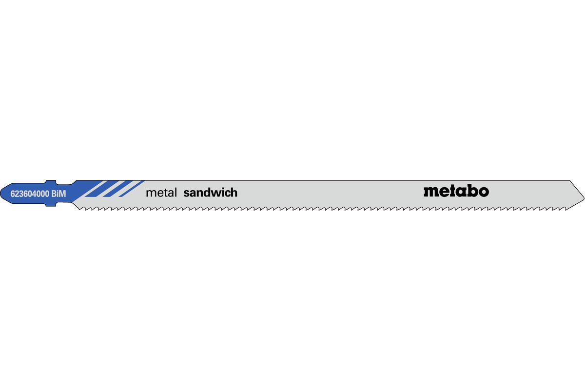 5 plátků pro přímočaré pily, kov, profesionální, 150/ 2,0 mm (623604000)
