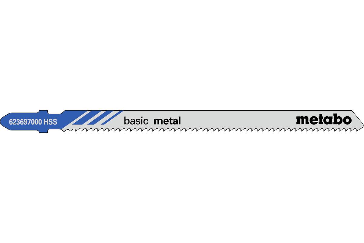"""5 plátků pro přímočaré pily """"basic metal"""" 106/ 2,0 mm (623697000)"""