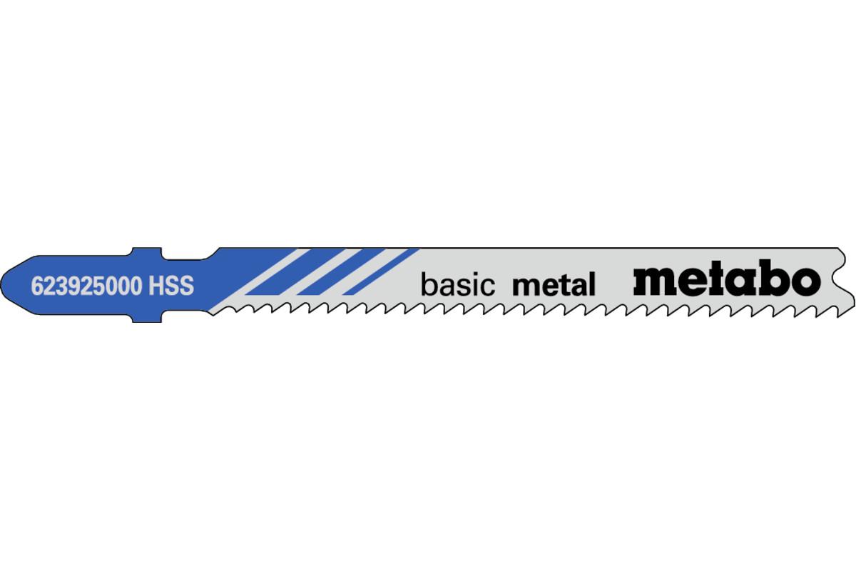 """5 plátků pro přímočaré pily """"basic metal"""" 66mm/progr. (623925000)"""