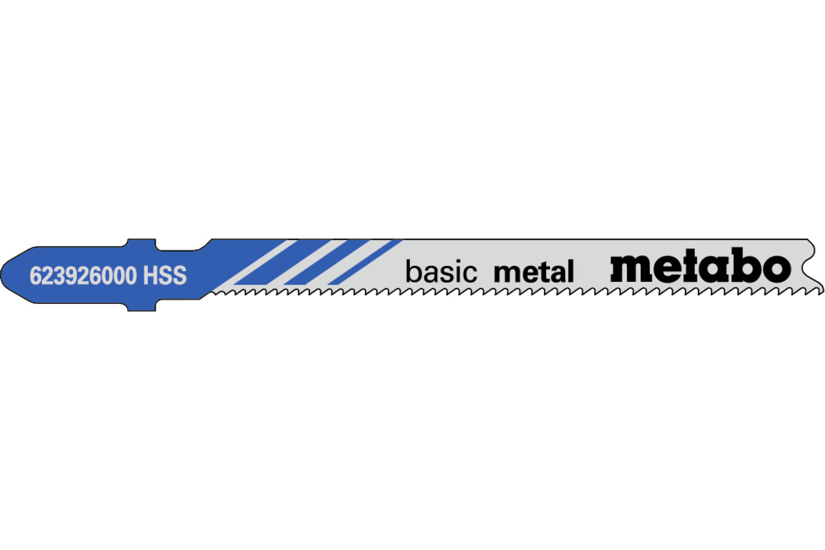 """5 plátků pro přímočaré pily """"basic metal"""" 66 mm/progr. (623926000)"""