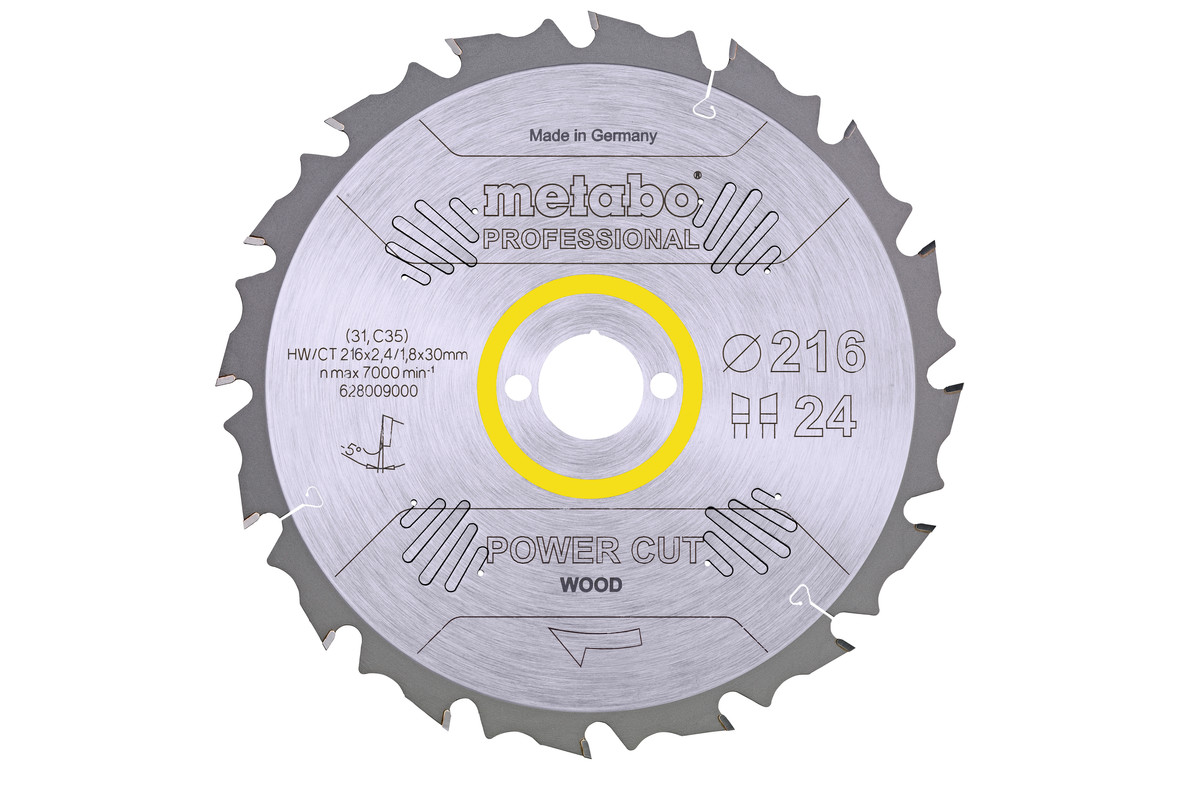 "Pilový kotouč ""power cut wood - professional"", 216x30, Z24 WZ 5° neg. (628009000)"